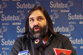 Roberto Baradel, titular de Suteba, confirmó que este mediodía habrá una definición