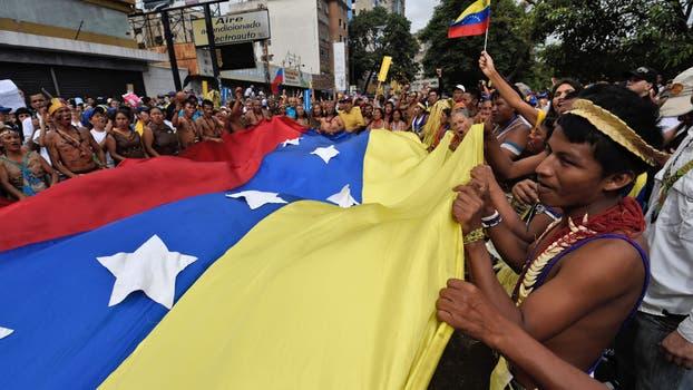 Comienza la Toma de Caracas entre obstáculos revolucionarios. Foto: AFP / Juan Barreto