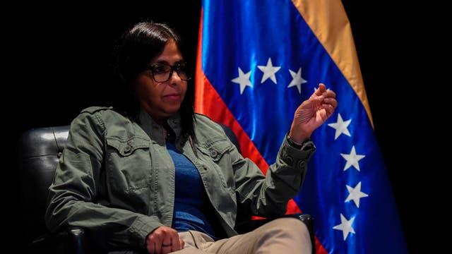 La ex canciller venezolana y figura del chavismo, Delcy Rodríguez