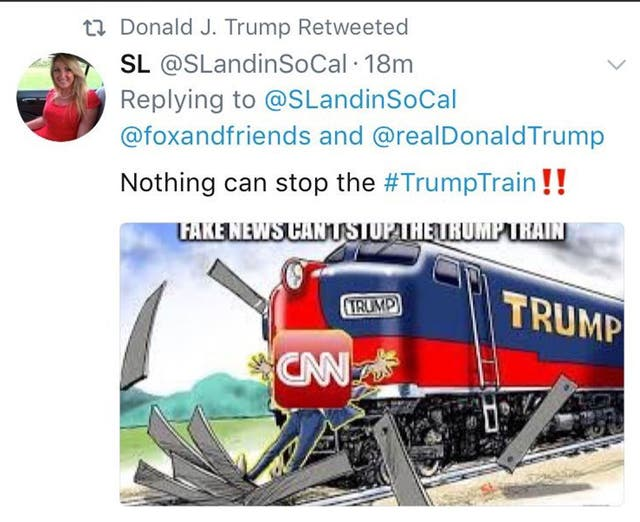 El tuit que Trump republicó y después borró
