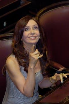 2005. En su última jura en el Congreso, como senadora. Foto: Archivo