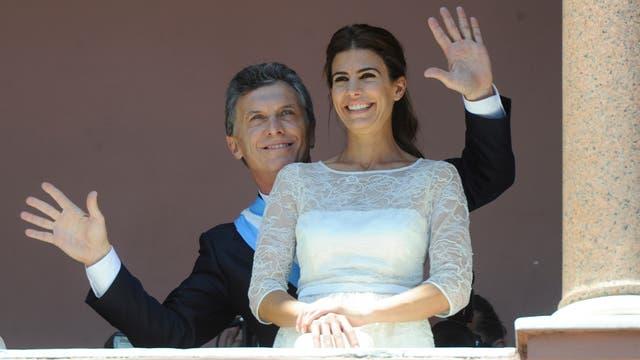 Macri y Awada en la Rosada, el día en que asumió