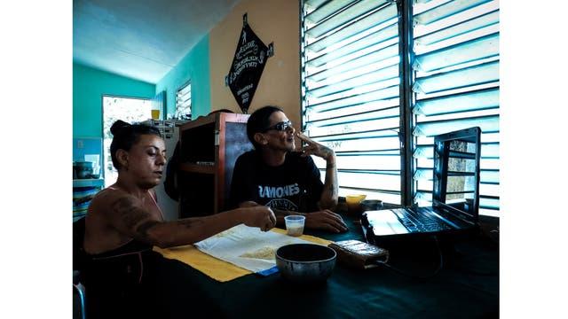 Gerson y Yoandra en su casa en Pinar del Río