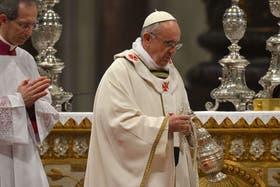 El Papa celebra la Misa Crismal en el Vaticano
