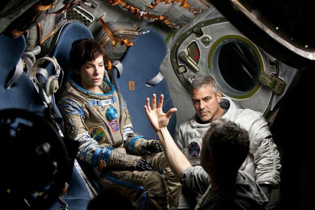 Alfonso Cuarón dirige a Sandra Bullock y a George Clooney en Gravedad