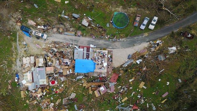 En la zona de Corozal las casas quedaron reducidas a una pila de escombros. Foto: AFP / Ricardo Arduengo