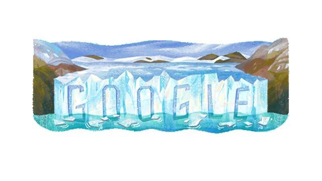 Google creó un doodle por el 80 aniversario del Parque Nacional Los Glaciares