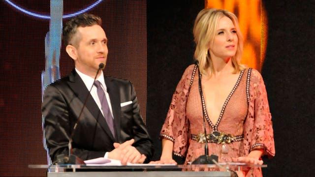 Carla Peterson y Diego Reinhold, los conductores de los premios Hugo