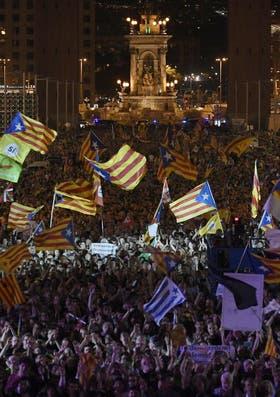 El acto de cierre de los secesionistas, en Montjuic