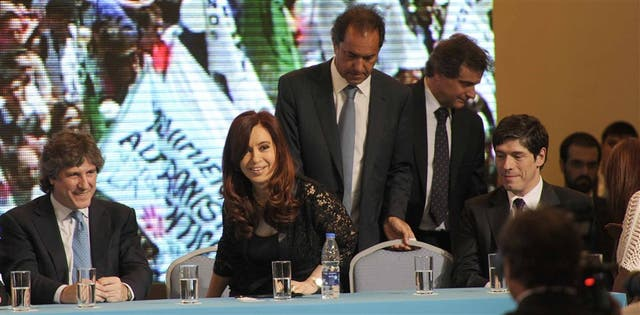 Cristina Kirchner habló en Mar del Plata, junto a Boudou, Scioli, Pulti y Abal Medina