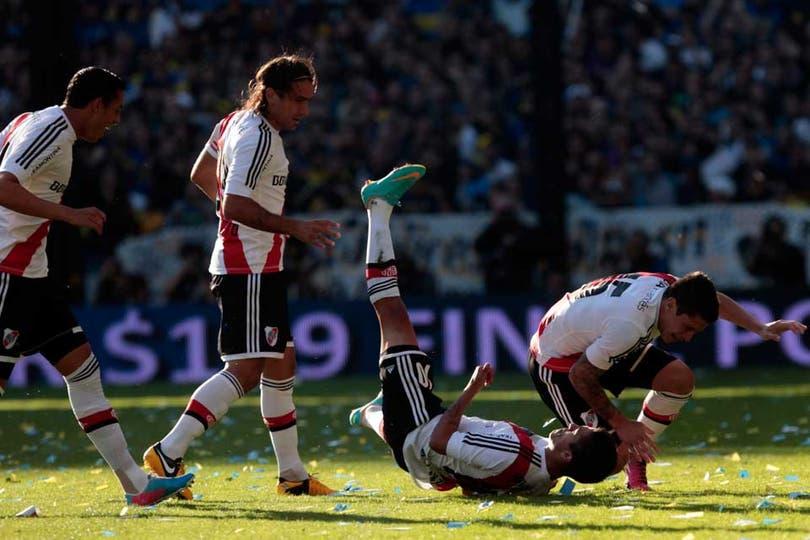 River y Boca empataron 1 a 1 en un superclásico con polémicas y muy entrecortado (foto Aníbal Greco). Foto: LA NACION / Aníbal Greco