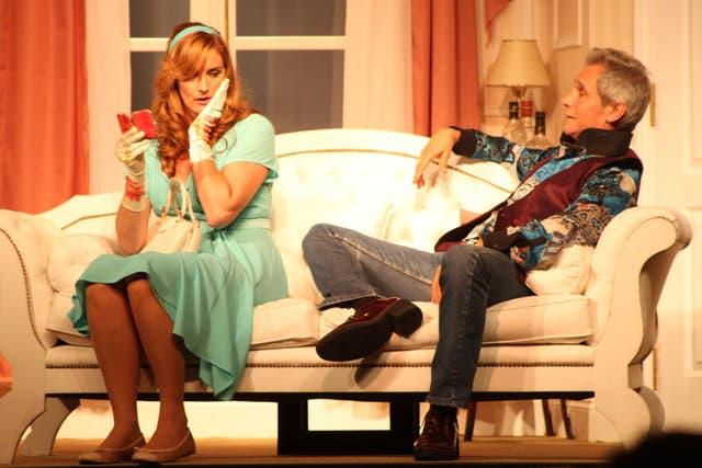 Taibo y María Rojí, en escena