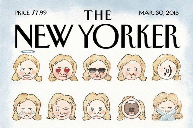 La tapa del New Yorker con los emoji de Hillary Clinton
