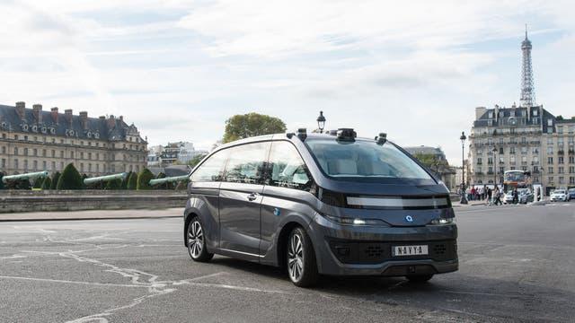 El taxi autónomo de Navya ya circula por las calles de París