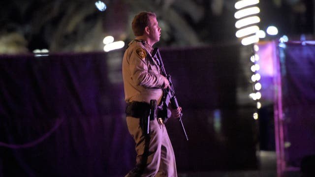 La policia de Las Vegas actuo de inmediato. Foto: David Becker/Getty Images/AFP
