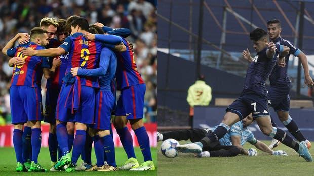 Barcelona, candidato de siempre en España; Racing, que viene de atrás, también anima el torneo argentino