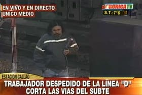 Un ex empleado de Metrovías bajó a las vías en la estación Callao y por eso se interrumpió el servicio de la línea D