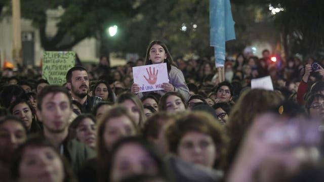 Ni una menos. Marcha contra la violencia de género desde el Congreso Nacional a Plaza de Mayo. Foto: LA NACION / Santiago Filipuzzi