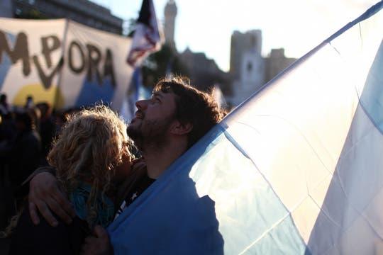 Vigilia en Plaza de Mayo. Foto: LA NACION / Aníbal Greco