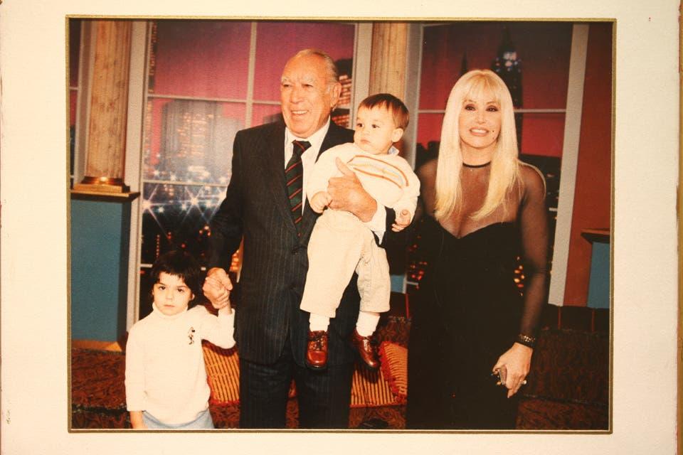 El día que recibió a Anthony Quinn. Foto:Archivo