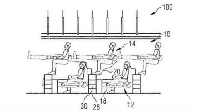 Airbus patentó su nueva distribución de pasajeros en un avión