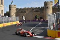 Las mejores fotos del llamativo circuito callejero de Bakú en su primera carrera de Fórmula 1