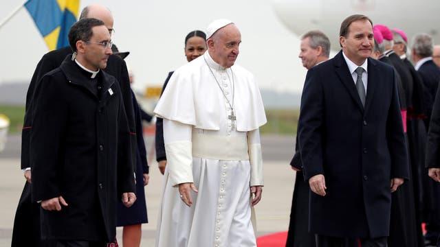 El Papa viajó a Suecia para homenajear los 500 años de la Reforma protestante