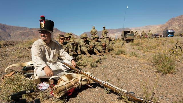 El homenaje a San Martín incluye 671 oficiales, suboficiales y soldados argentinos y chilenos
