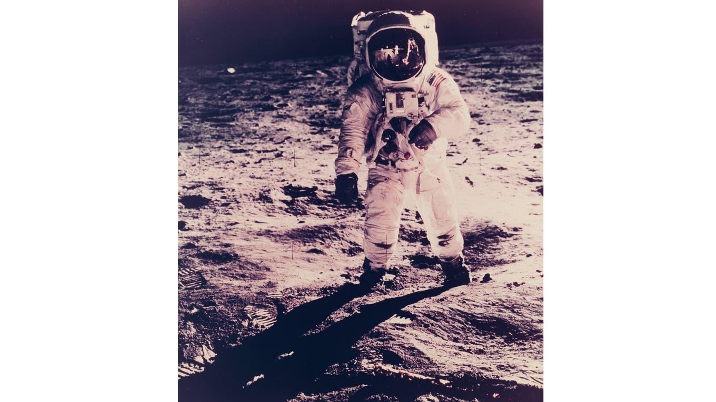 Reflejo de Armstrong en el casco de Aldrin. Foto: NASA