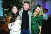 Incondicional de sus hijas, Marcelo Tinelli llegó a Tetuán Restó de Palermo junto a su novia, Guillermina Valdes, para felicitar a Cande.
