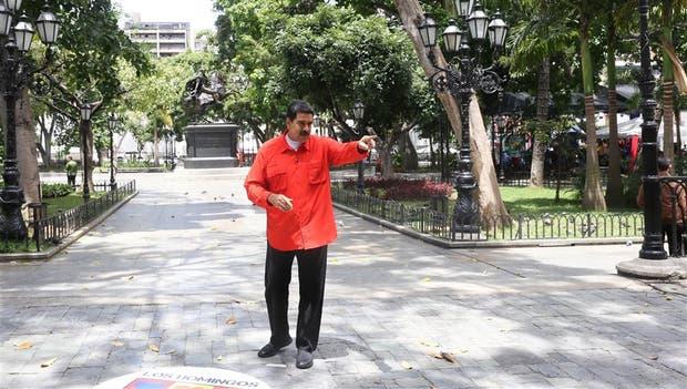 El presidente venezolano, ayer, en su programa semanal Los Domingos con Maduro, en Caracas