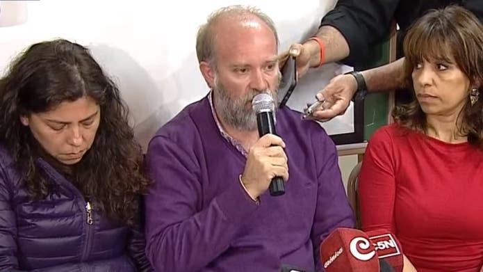 La familia de Santiago Maldonado brinda una conferencia de prensa