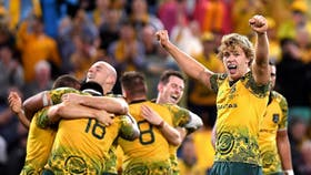 Los Wallabies festejaron ante los All Blacks