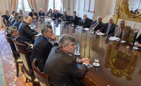 La reunión que encabezó Macri en Casa Rosada