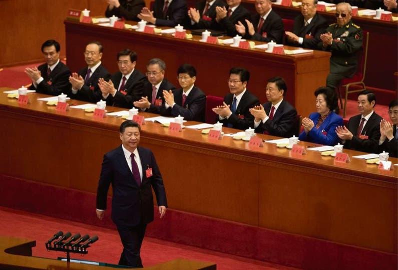 El presidente de China, Xi Xingping, en el XIX Congreso del Partido Comunista Chino