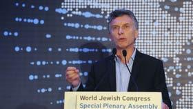 Macri, días atrás en el Congreso Judío Mundial, habló sobre la AMIA y Nisman