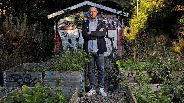 Carl Gentele, miembro de la agrupación Garden on the track, en Estocolmo