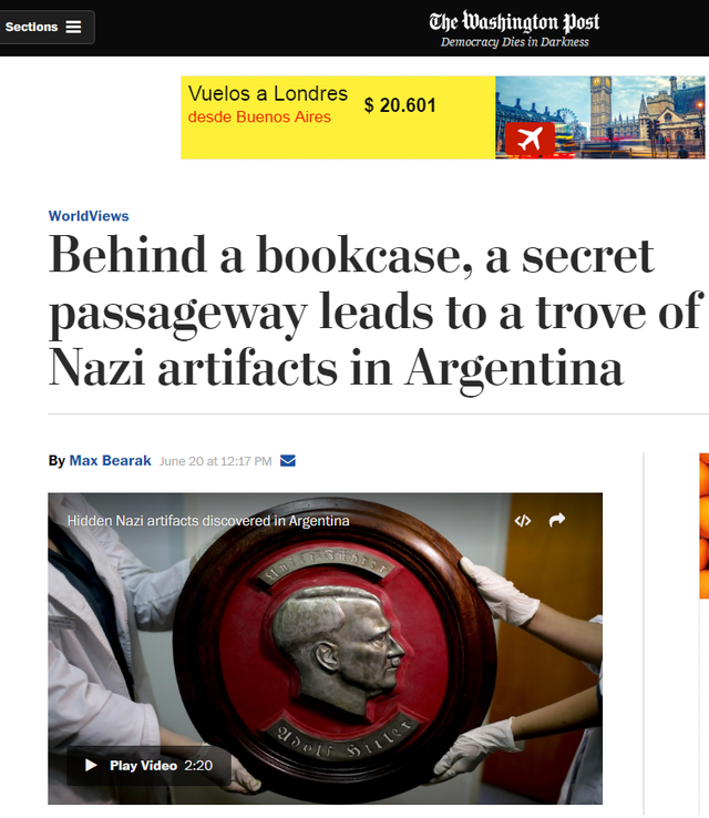 The Washington Post también dio la noticia