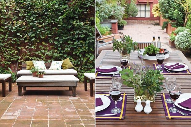 Jardín Escondido fue diseñado como un refugio verde en el medio de la ciudad. Todos los huéspedes tienen acceso a los espacios comunes y, si el clima acompaña, hasta pueden disfrutar un desayuno continental a cielo abierto..