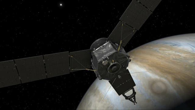 Cinco años tardó Juno en arribar al planeta