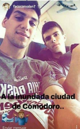 Facundo Corvalán y Fermín Thygesen, en la imagen que subieron en la cuenta de Instagram del primero de ellos
