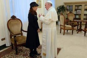 Cristina se reunió con Francisco en el Vaticano días después de que fuera anunciado que Jorge Bergoglio era el nuevo Papa