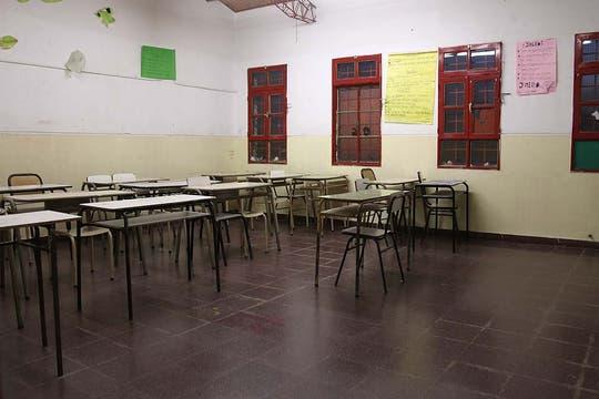 El interior de una de las aulas. Foto: LA NACION / Matías Aimar