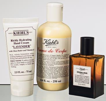 Original Musk EDT de 50 ml, cremas para cuerpo y para manos de lavanda (Kiehl's). Foto: Silvio Zuccheri