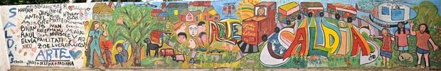 Un mural realizado por los vecinos de Saldías