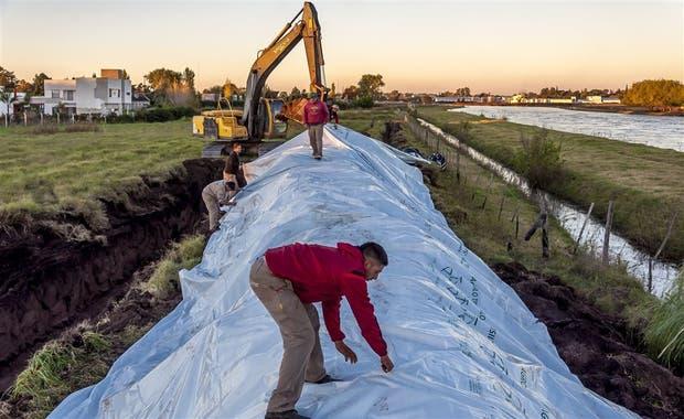 El terraplén será terminado dentro de una semana. Foto: Intendencia de Junín