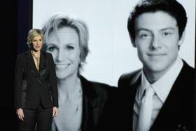 Jane Lynch condujo el tributo a Cory Monteith