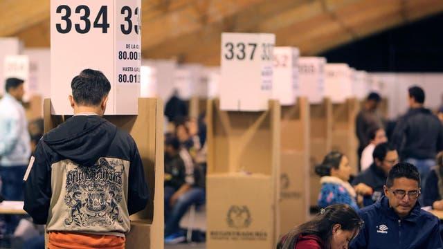 Los ciudadanos podían elegir si participar o no del plebiscito