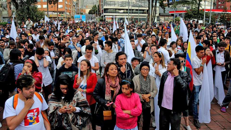 """La diferencia para el triunfo del """"no"""" fue muy poca pero alzanzó para conseguir el triunfo. Foto: EFE / Leonardo Muñoz"""