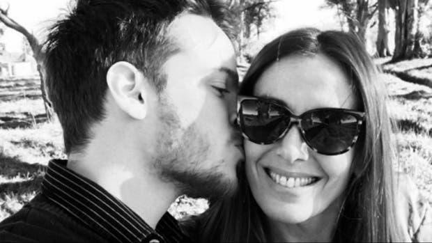Santiago García Rosa y Viviana Saccone, muy enamorados